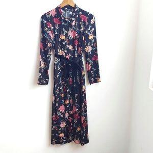 NWT Zara Trafaluc Floral dress long sleeve